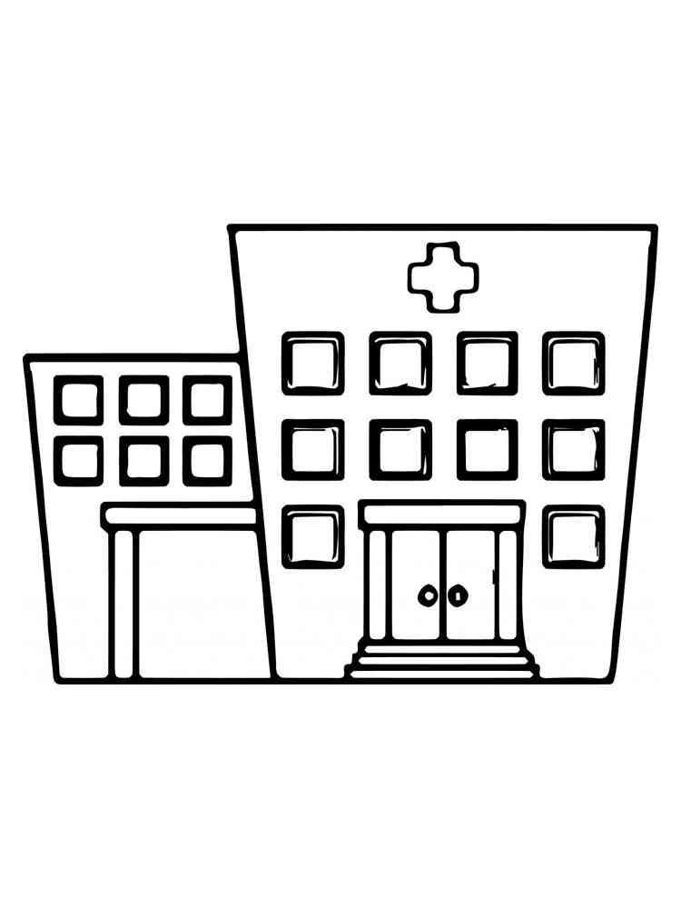 Раскраски Больница - распечатать в формате А4