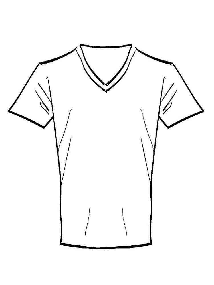 картинки футболки для раскраски крупных