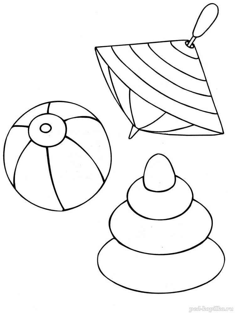 Раскраски Игрушки - распечатать в формате А4
