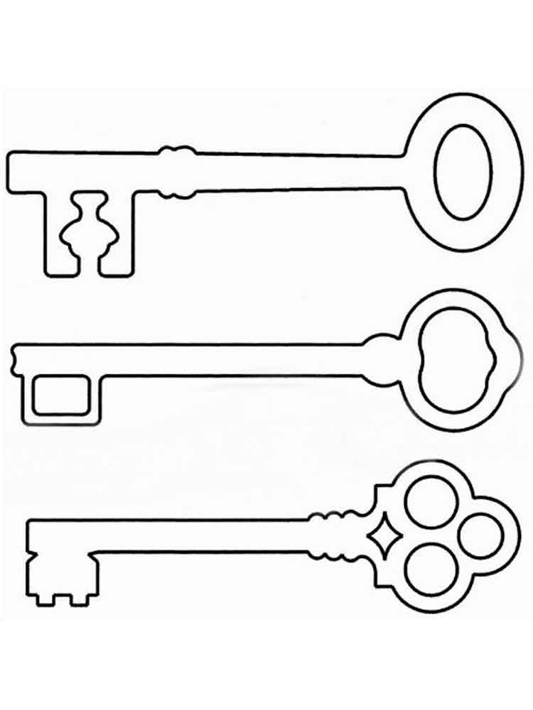 Картинка раскраска ключ