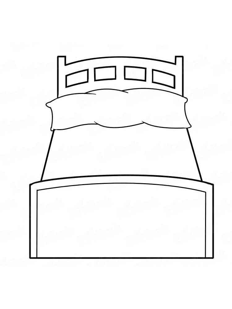 Раскраски Кровать - распечатать в формате А4