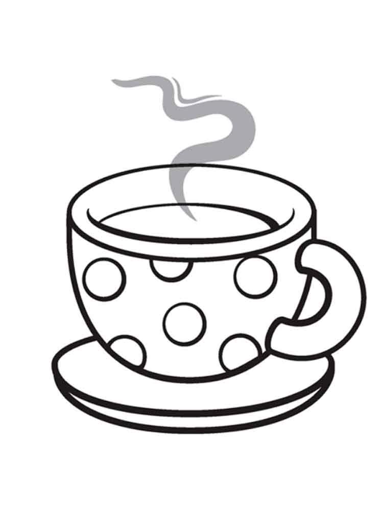 чашка чая раскраска была подруга