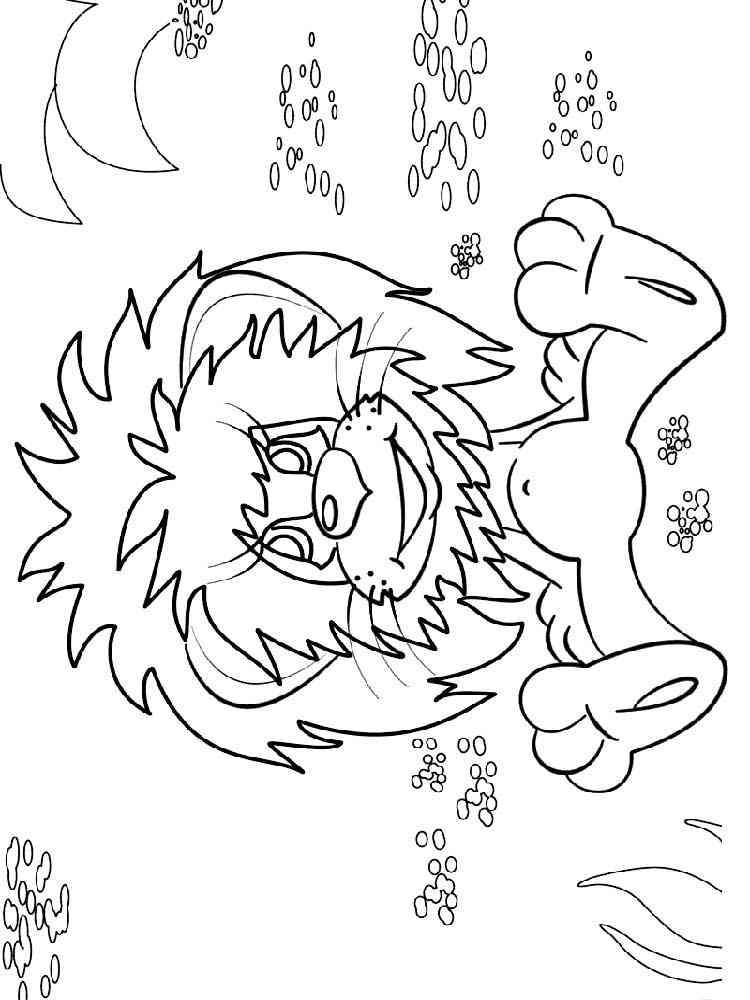 Львенок и черепаха картинки из мультика раскраски