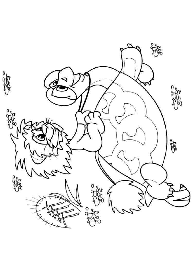 Раскраска Львенок и черепаха. Скачать и распечатать ...