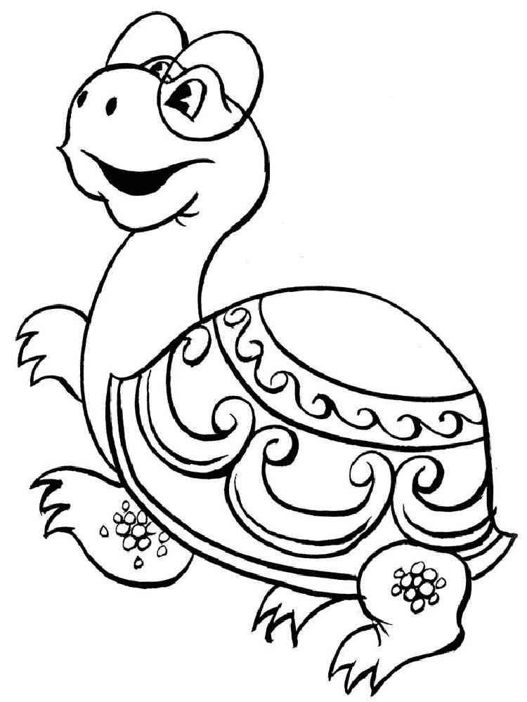 раскраска львенок и черепаха скачать и распечатать