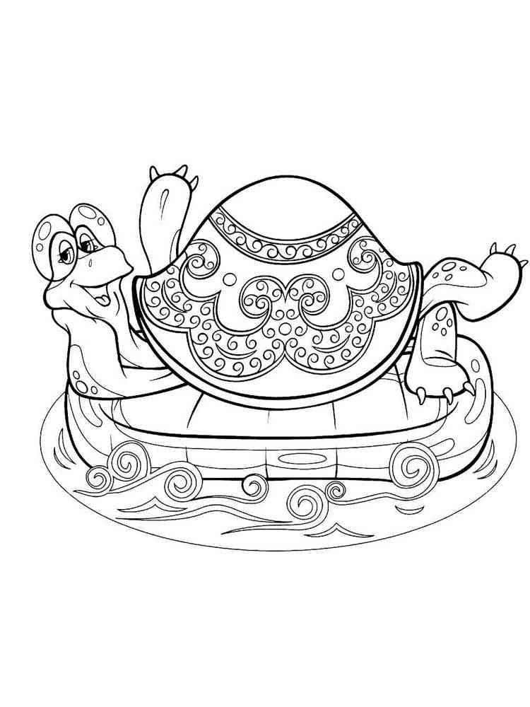 Раскраска Львенок и черепаха - распечатать в формате А4