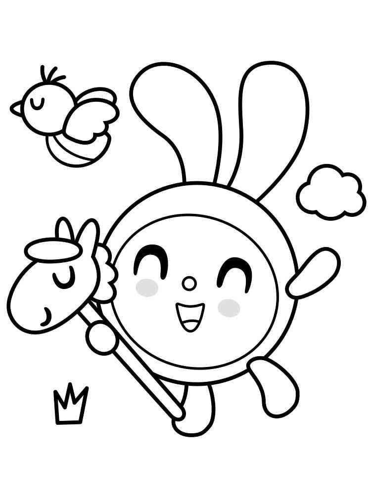 Раскраски Малышарики - распечатать в формате А4