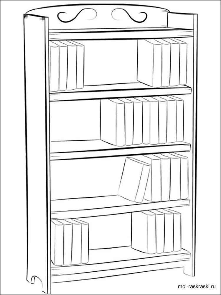 Картинка раскраска шкафа