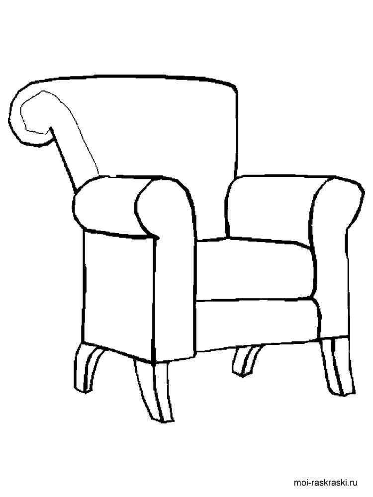 Раскраска для детей 3 лет мебель