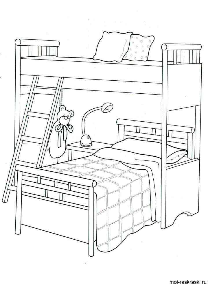 раскраска кроватка для куклы статья главных