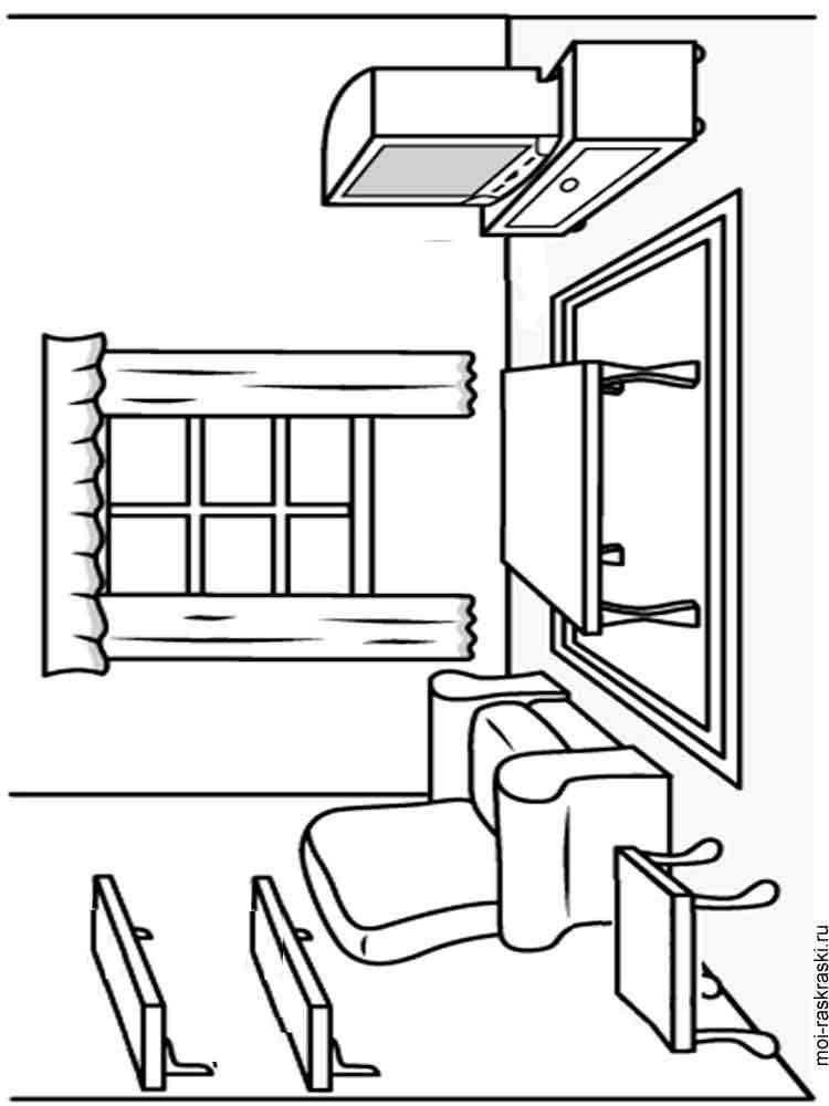 Картинка мебели для детей раскраска