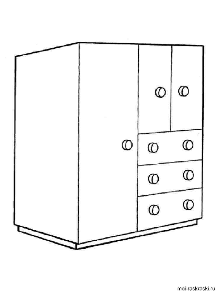 Шкаф картинка раскраска для детей