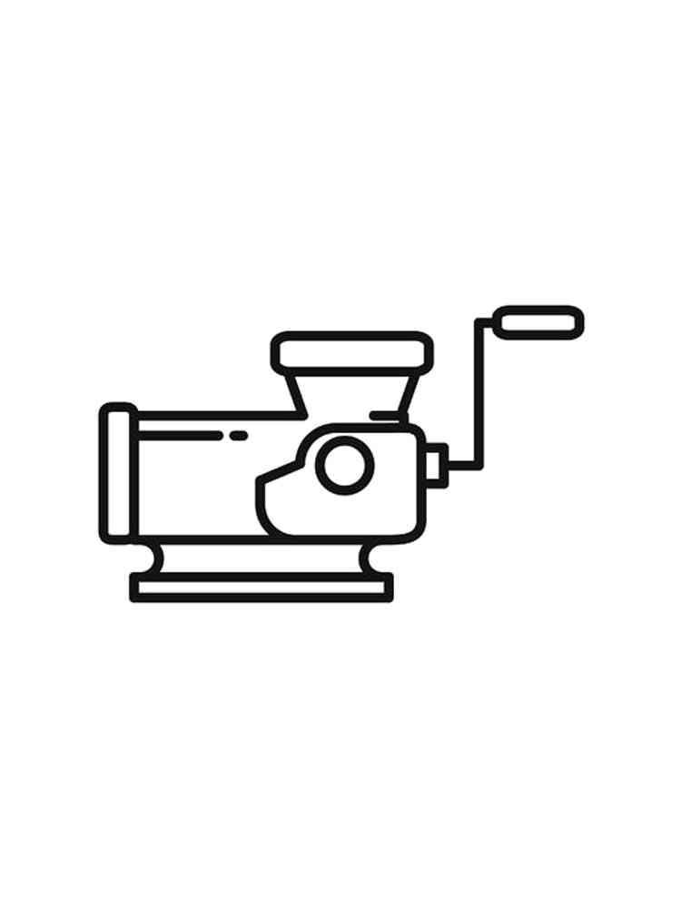 Раскраски Мясорубка - распечатать в формате А4
