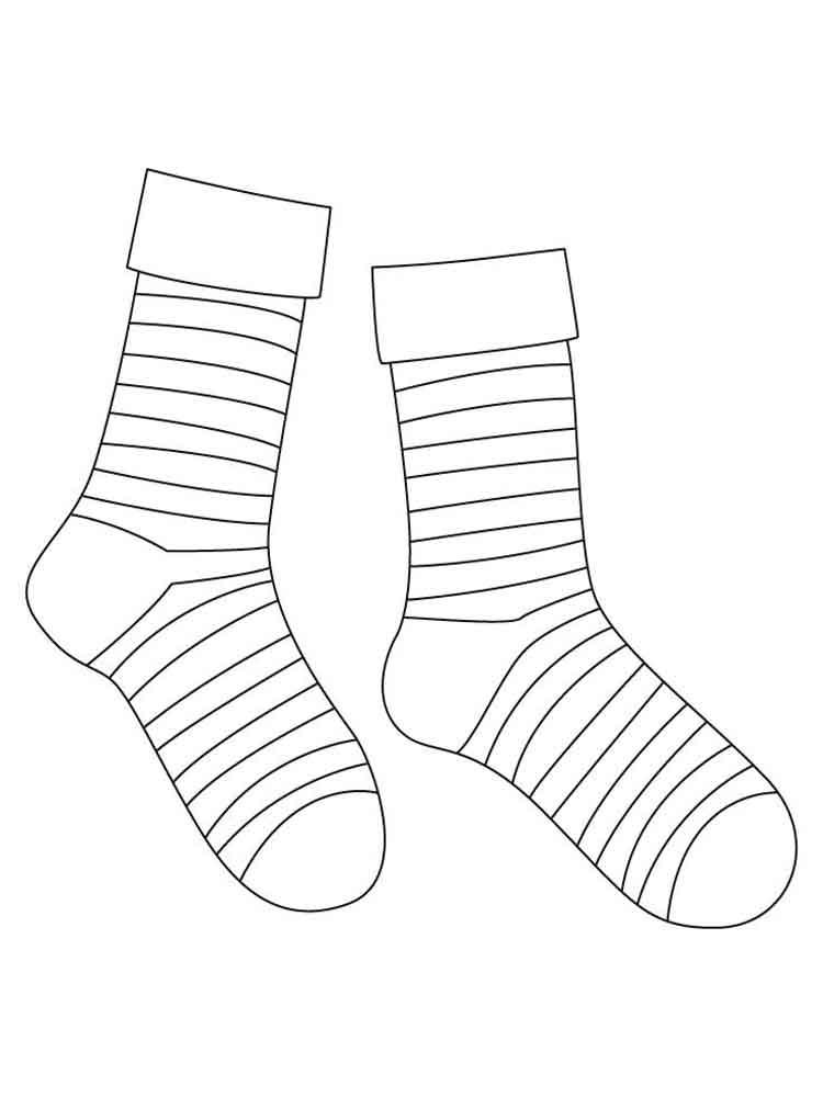 черно белый рисунок носок это