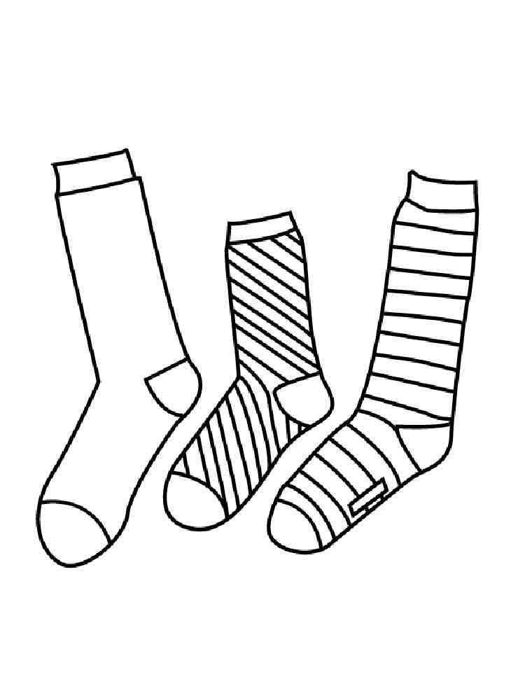 черно белый рисунок носок оснащены телевизором