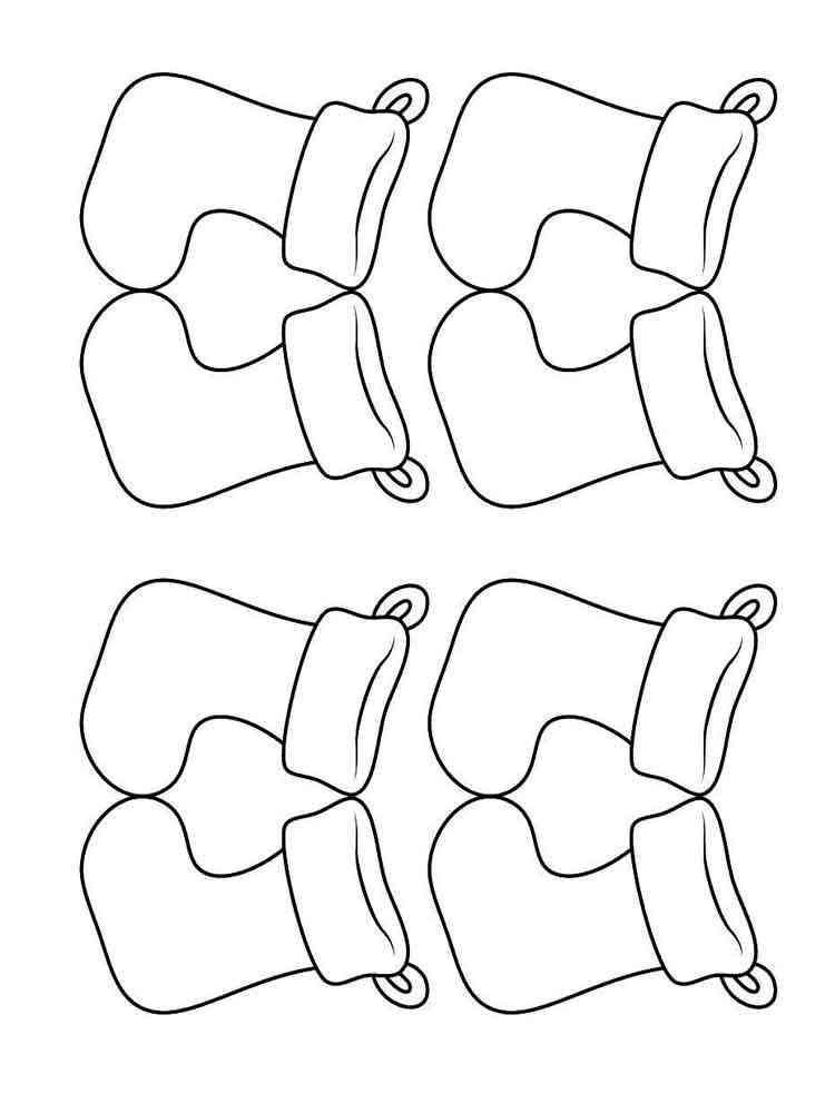 Раскраски Носки - распечатать в формате А4