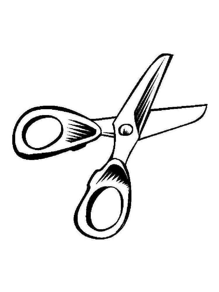 Маленькие картинки для распечатки ножницы