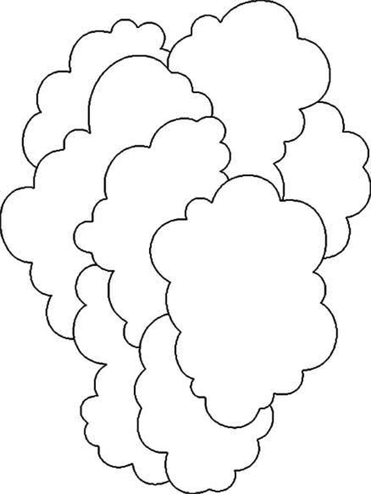 картинки облако для раскрашивания получилось, что
