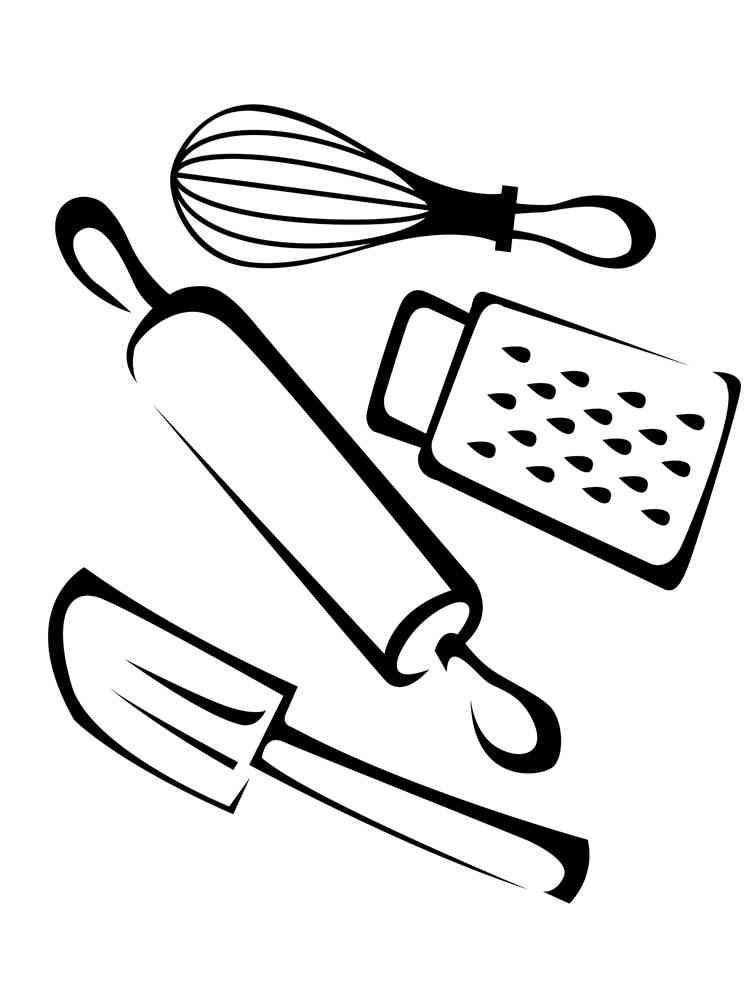 Раскраска о посуде