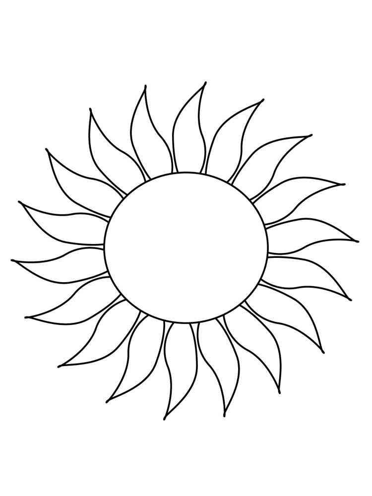 картинка для раскрашивания солнце рак