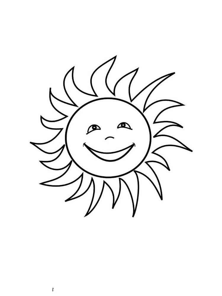 картинка для раскрашивания солнце способов утилизациисуществует