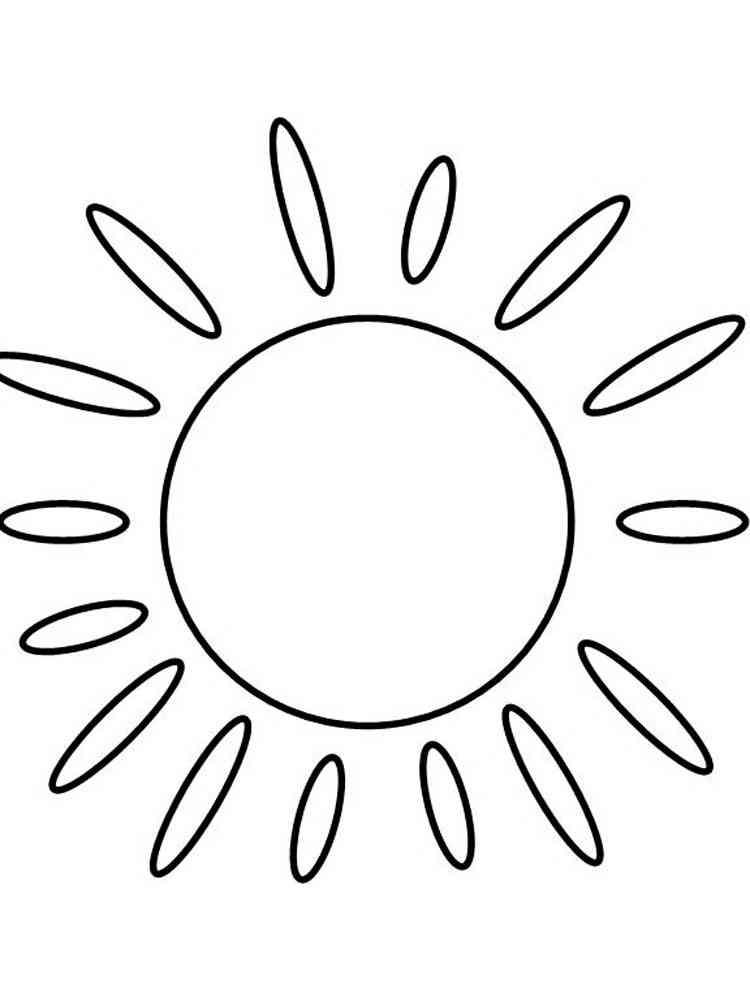 раскраски солнышко скачать или распечатать раскраски солнышко