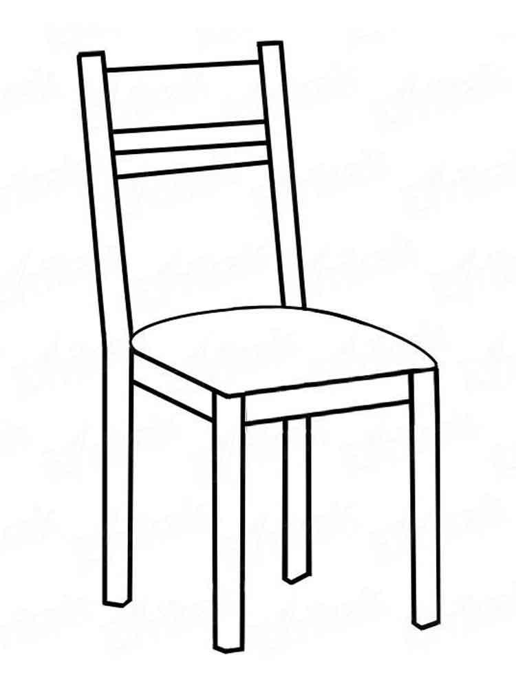 Картинка стула рисунок