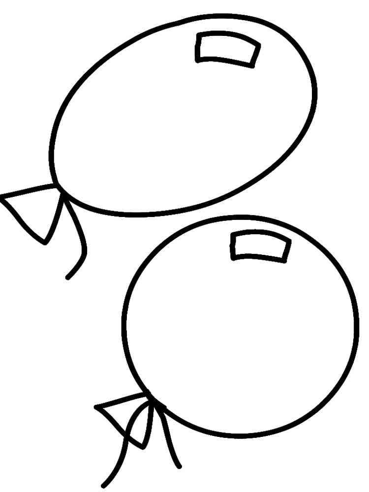 картинки шарики раскраски