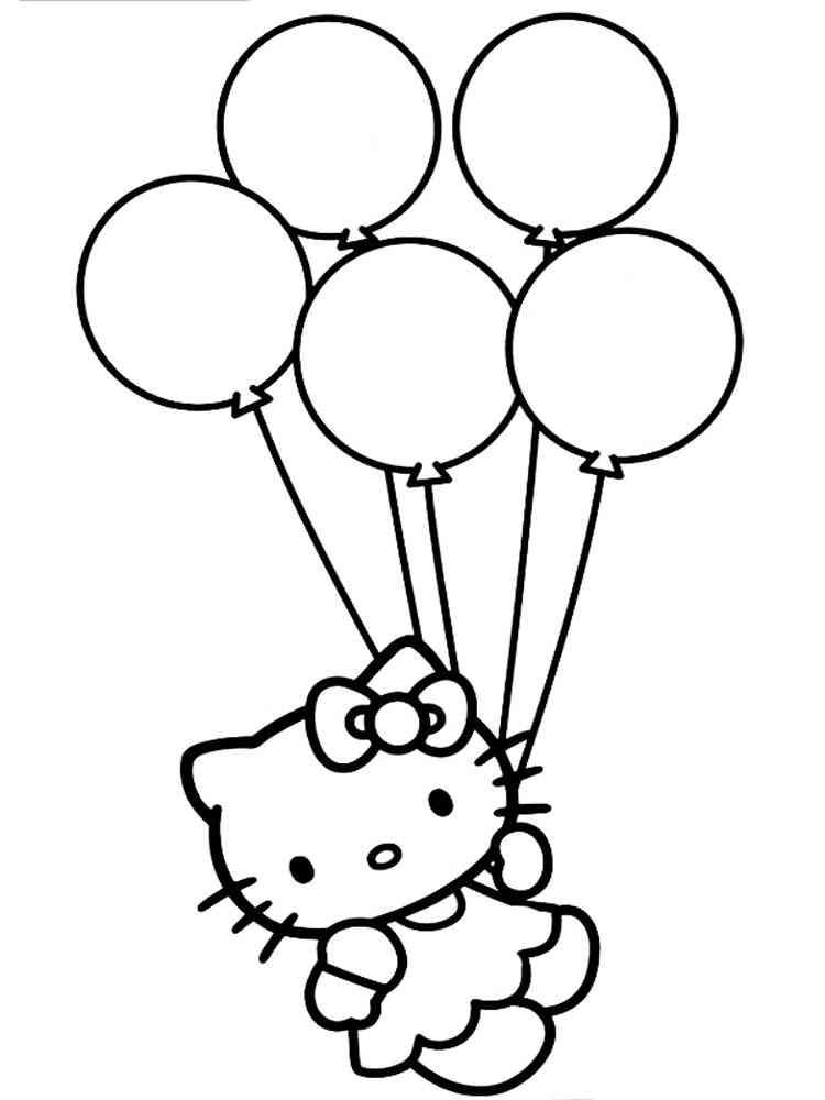 Раскраски Воздушные шары - распечатать в формате А4