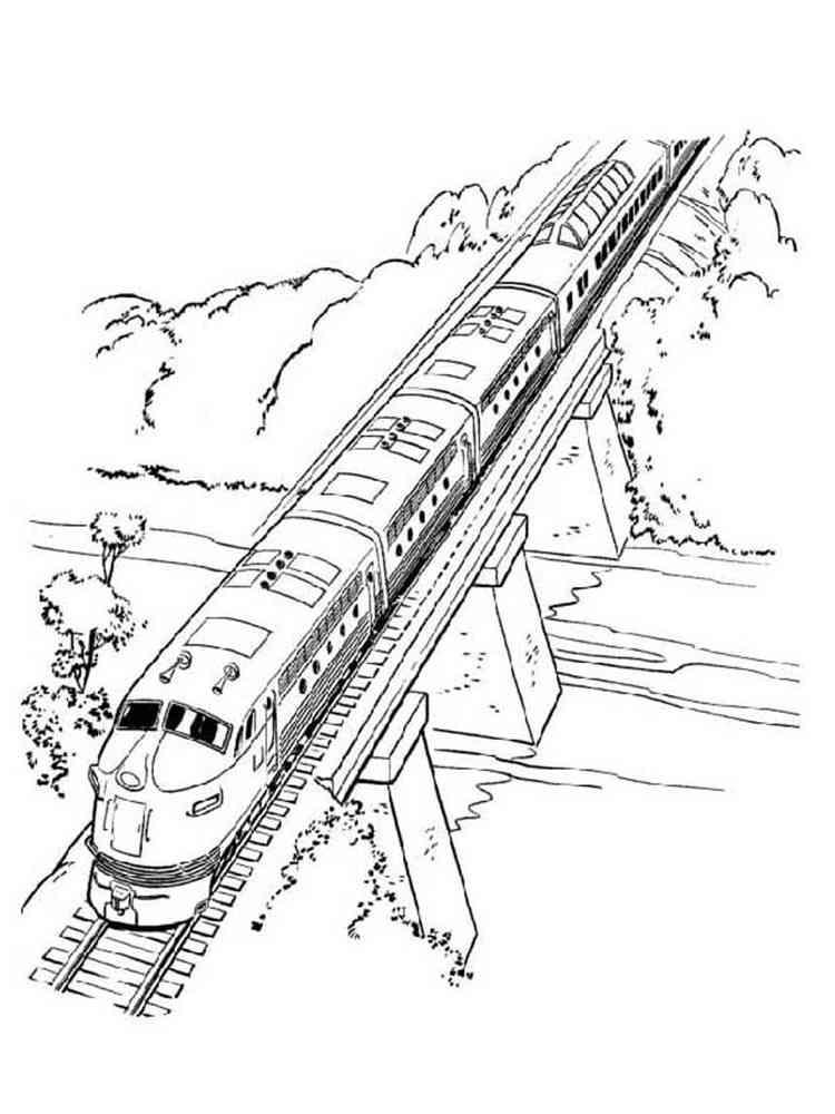 Раскраска с железной дорогой