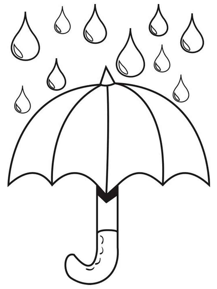 Раскраска картинка зонтик