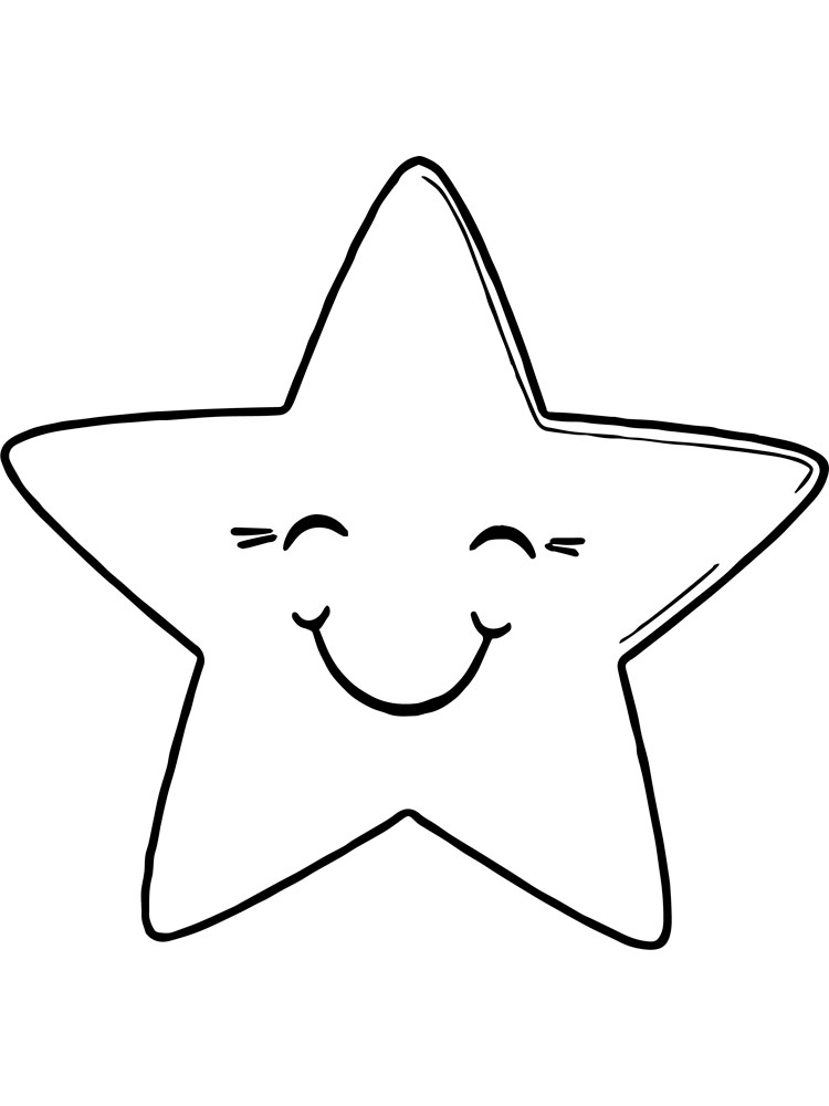 картинки звезд разукрашки для