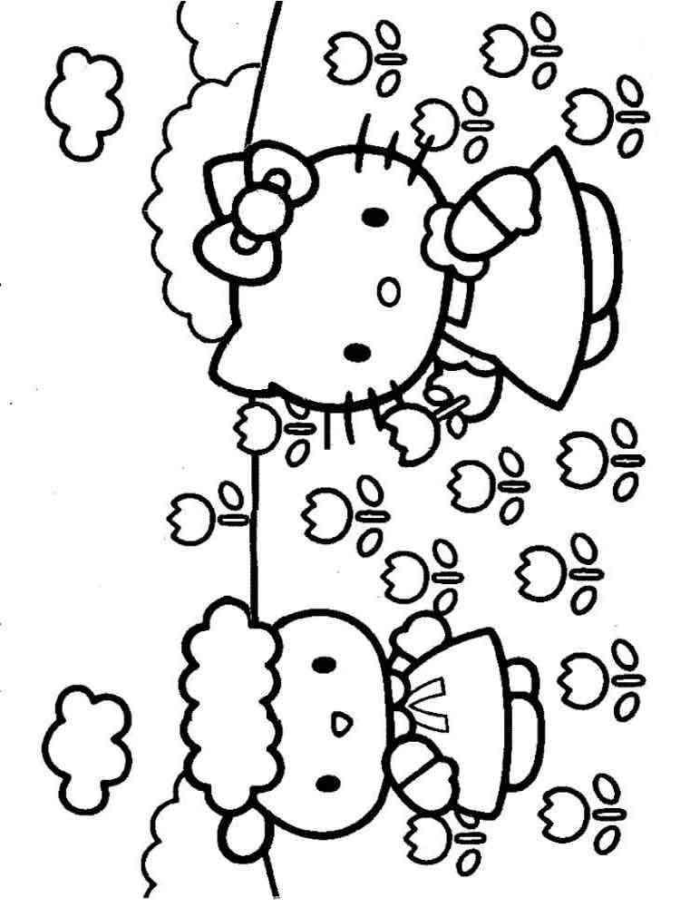 Раскраски Hello Kitty (Хелло Китти) - распечатать в формате А4