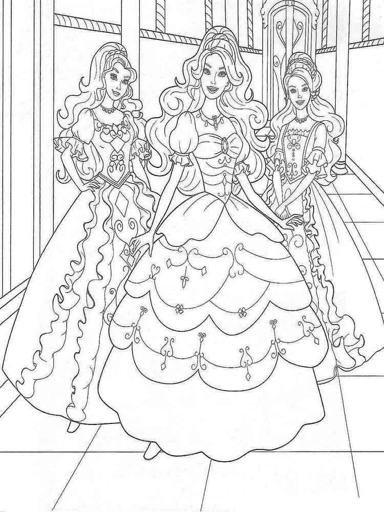Раскраски Барби - распечатать в формате А4