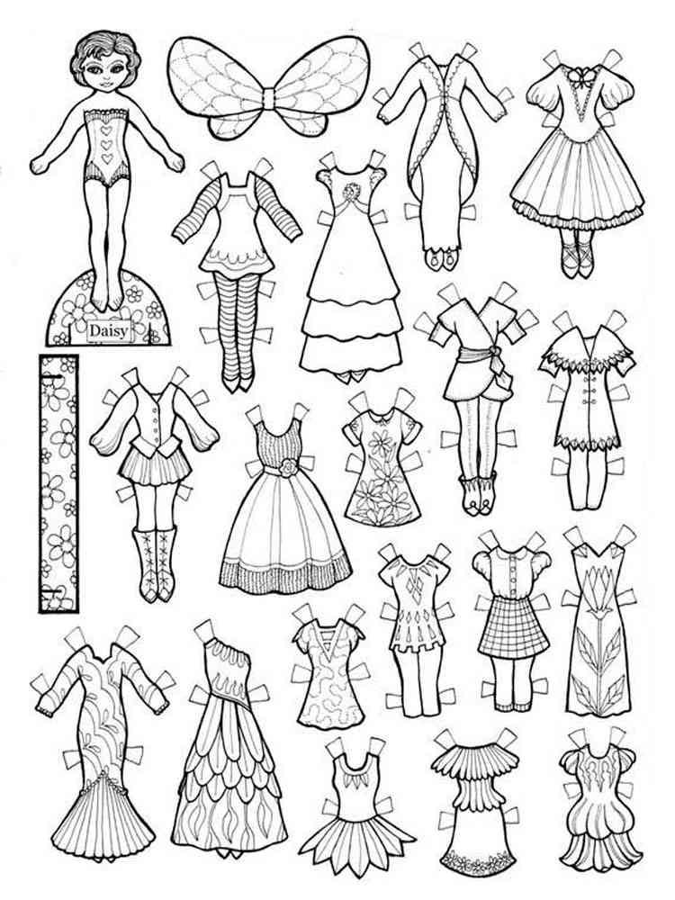 Картинки вырезалки куклы с одеждой для вырезания распечатать