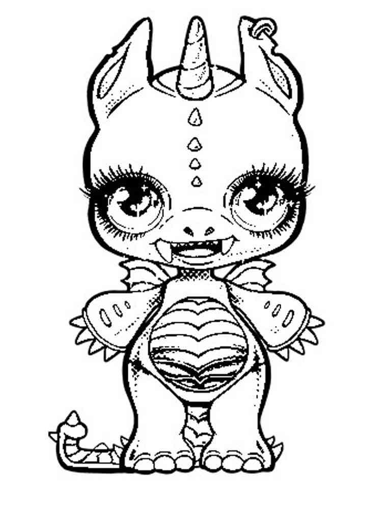 Раскраска Пупси Единорог - распечатать в формате А4