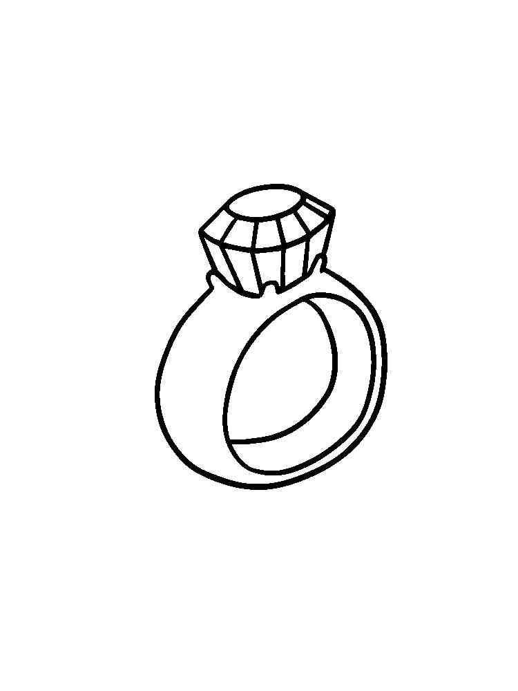 Раскраски Кольцо - распечатать в формате А4