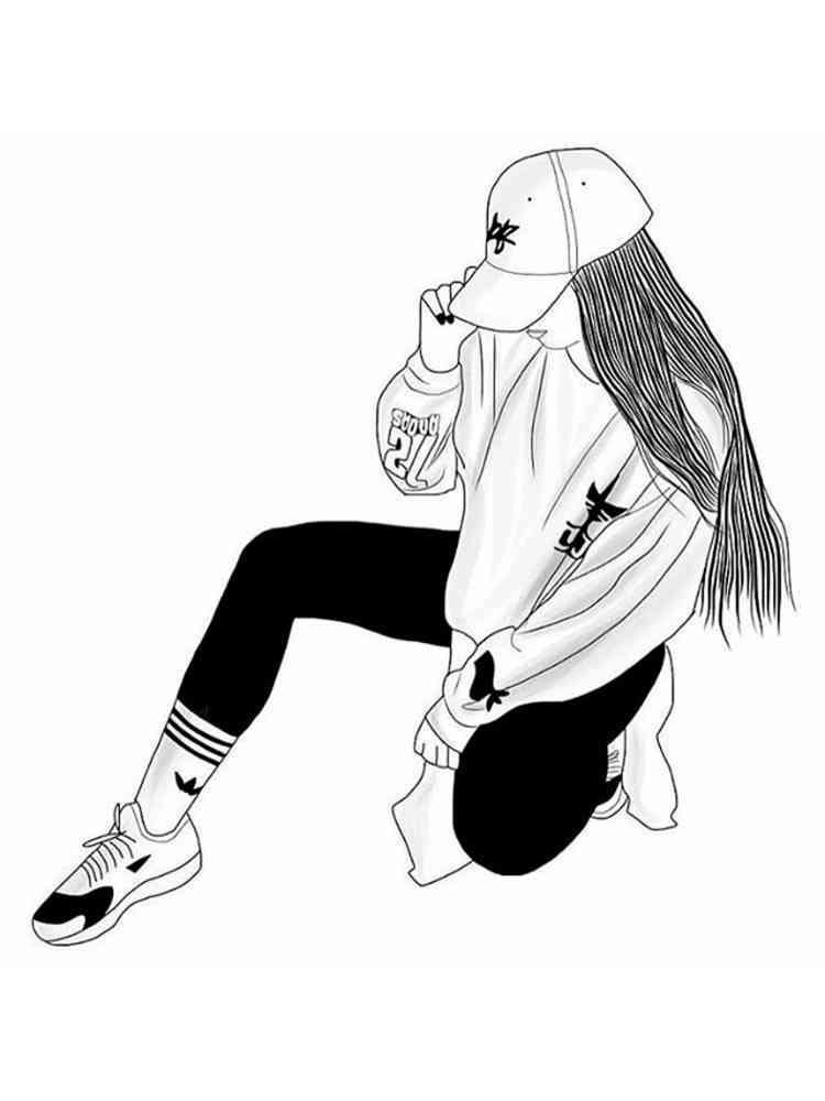 Раскраска Крутые девочки - распечатать в формате А4