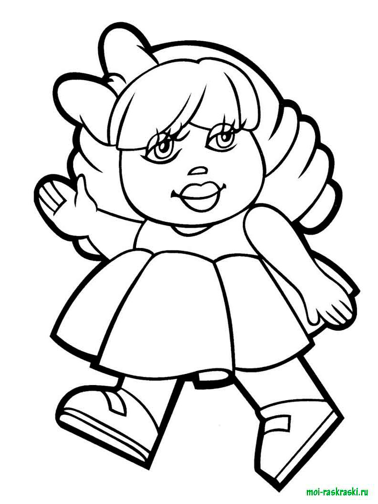 Картинки куклы раскраска для детей