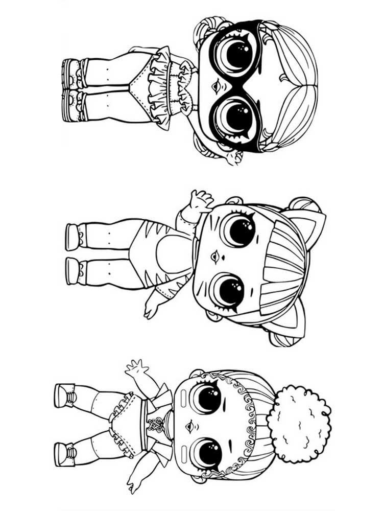 Раскраски Куклы ЛОЛ