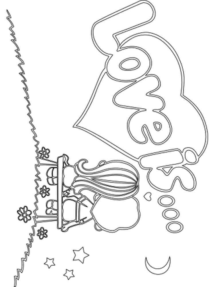 Раскраски Любовь - распечатать в формате А4
