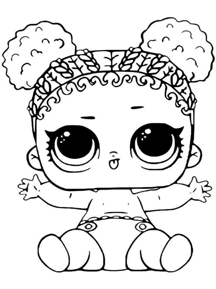Раскраска Малышек ЛОЛ - распечатать в формате А4