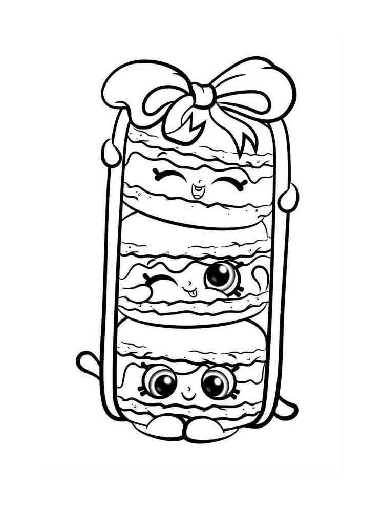 Раскраска Милая еда - распечатать в формате А4