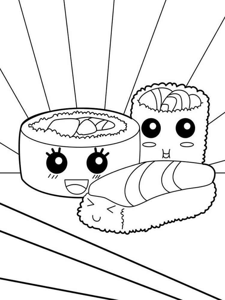 Раскраски еда с глазами сладости