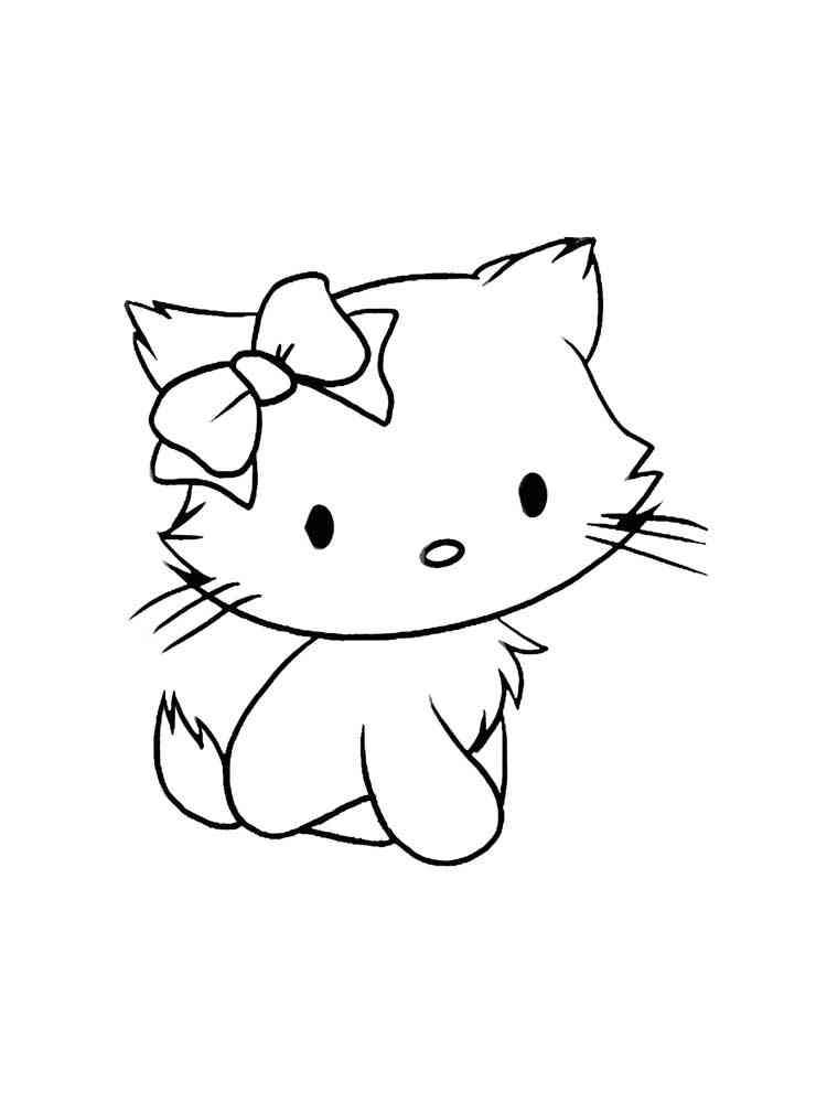 Раскраска Милые Котики - распечатать в формате А4
