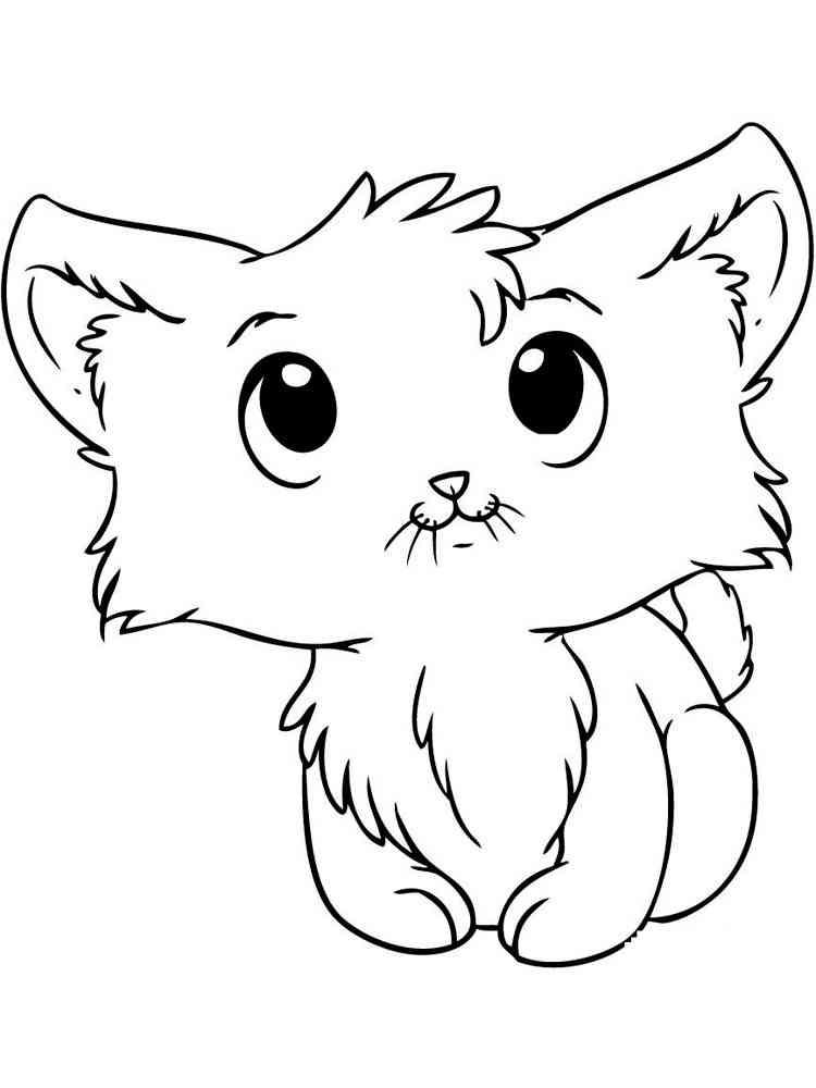 картинки с милыми котятами нарисовать может