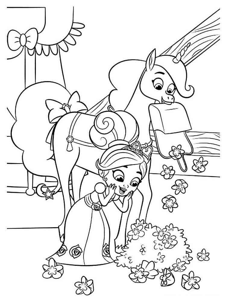 Раскраска Нелла принцесса рыцарь - распечатать в формате А4