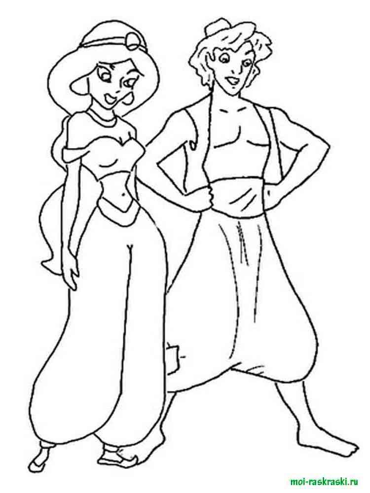 раскраски принцесса жасмин скачать и распечатать раскраски