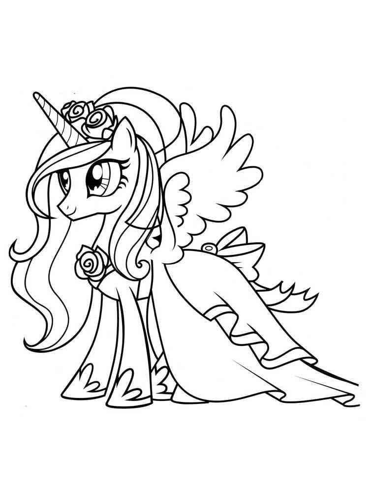 Раскраски Принцесса Каденс - распечатать в формате А4