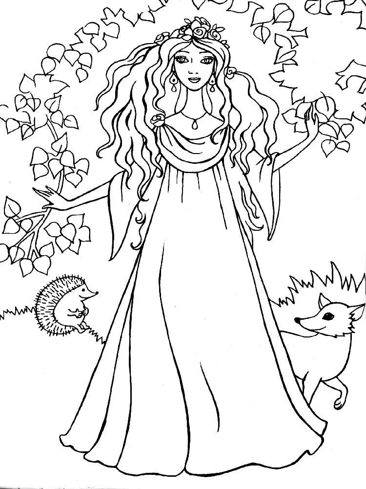 Раскраски для распечатать бесплатно для девочек принцессы